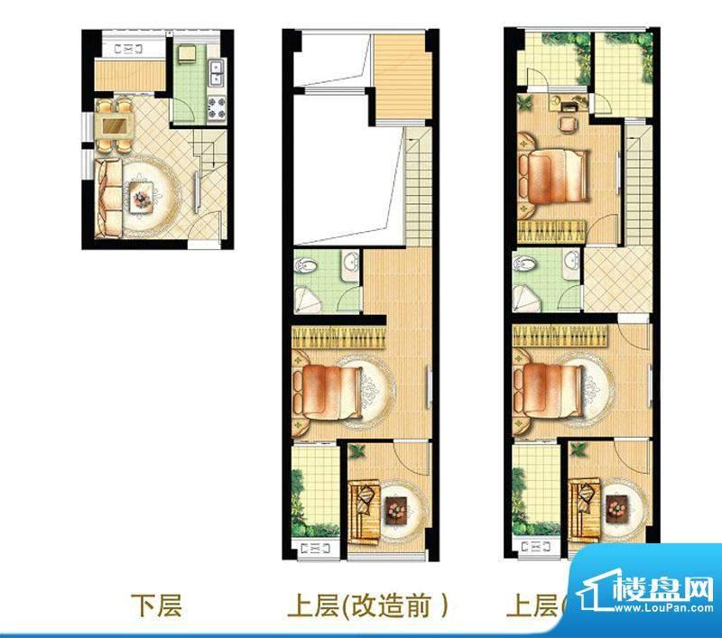绿地商务城迷你跃馆17室北跃户面积:75.00平米