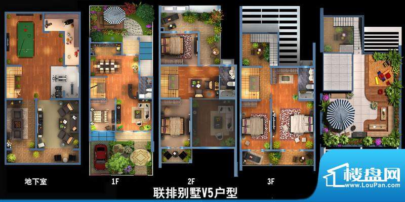 雍景新城联排别墅V5户型图