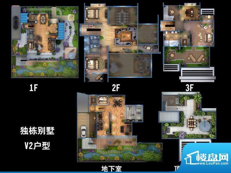雍景新城独栋别墅V2户型图