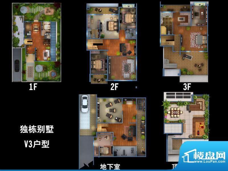 雍景新城独栋别墅V3户型图