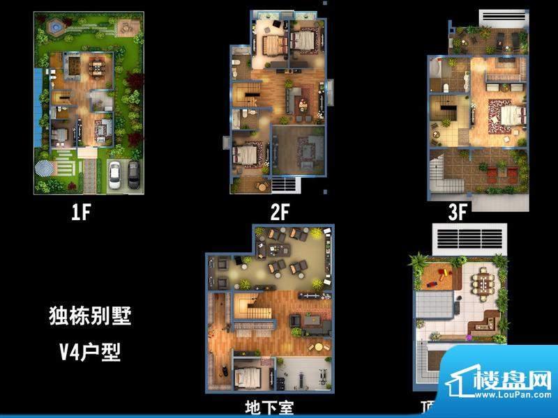 雍景新城独栋别墅V4户型图