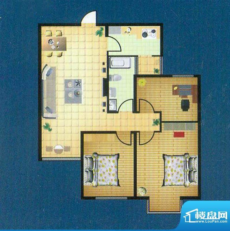 徐矿城高层A1户型 3室2厅1卫面积:91.93平米