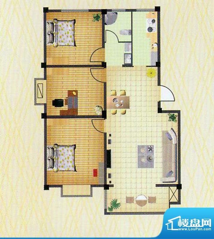 徐矿城多层C1户型 3室2厅1卫面积:109.12平米
