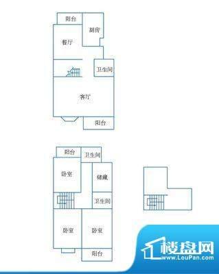 郡望花园 5室 户型图面积:250.00平米