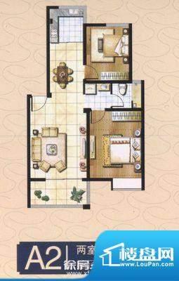 郡望花园 2室 户型图面积:86.00平米
