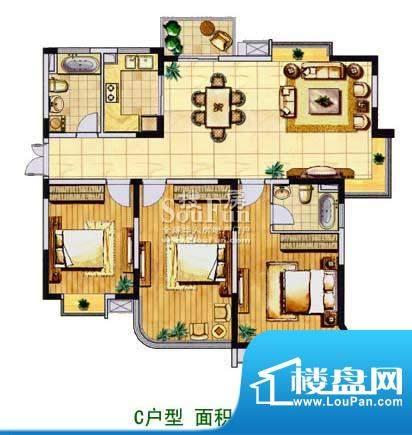 金色森林平层c 3室2厅2卫1厨面积:142.00平米