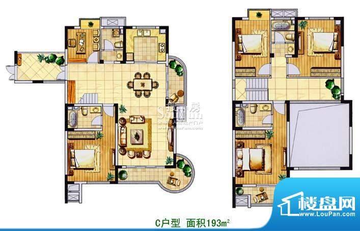 金色森林复式C 5室2厅4卫1厨面积:193.00平米
