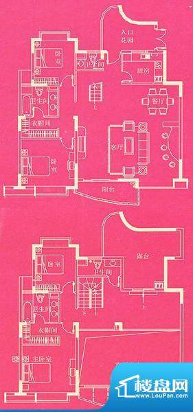 东方国际广场豪宅户型 复式B1