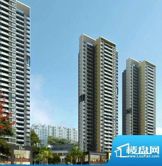 银海新城三期外景图项目侧立面(2012.0