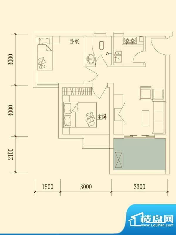 千山明月清泉户型图一期4#8#9#面积:55.38平米
