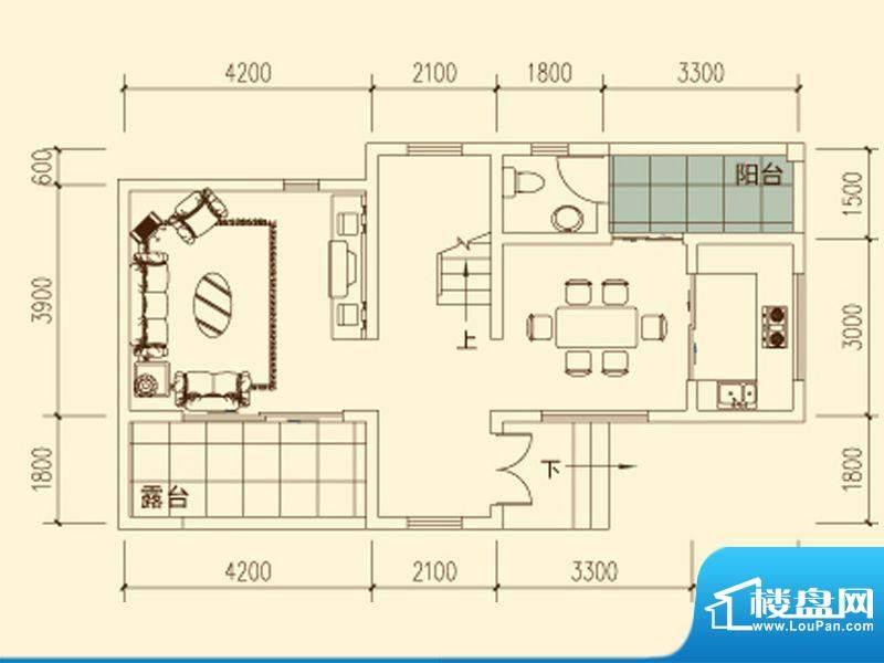 千山明月清泉户型图一期1、3栋面积:120.79平米