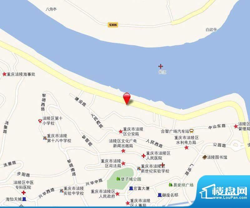 滨江国际花园交通图