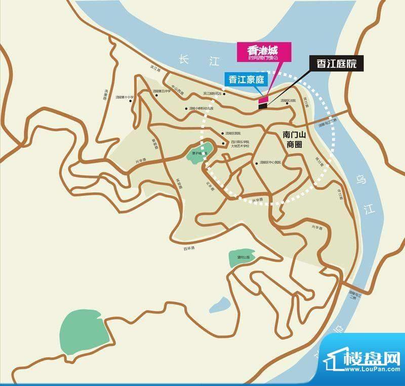 香江庭院交通图