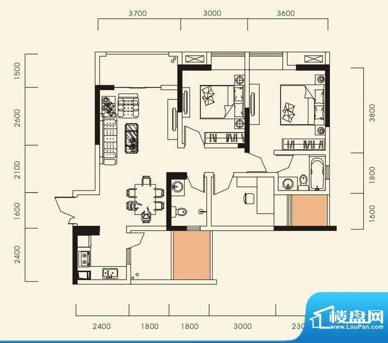 海怡江山户型图一期1号楼标准层面积:98.92平米