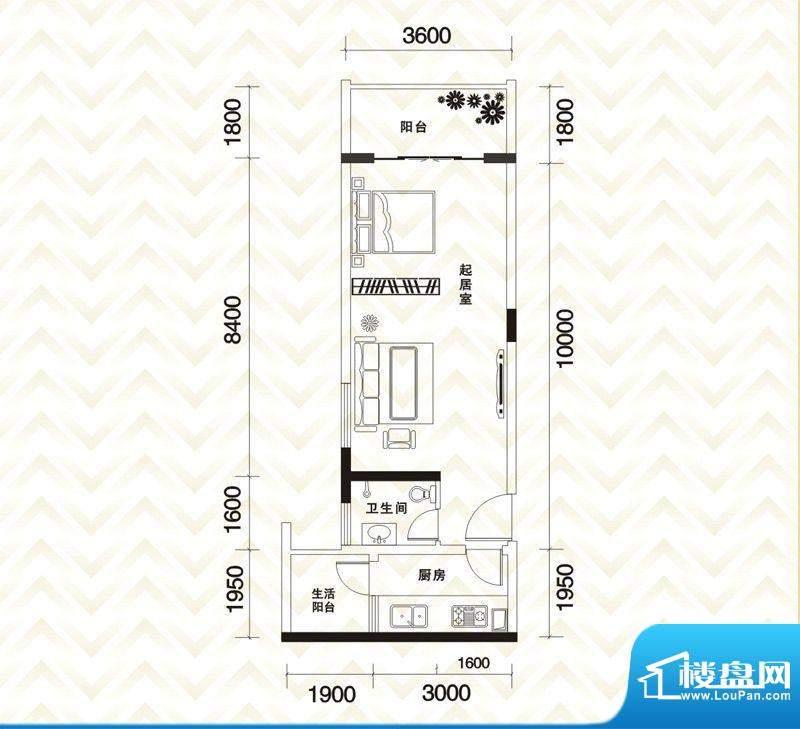 香江庭院户型图二期2号楼标准层面积:57.52平米