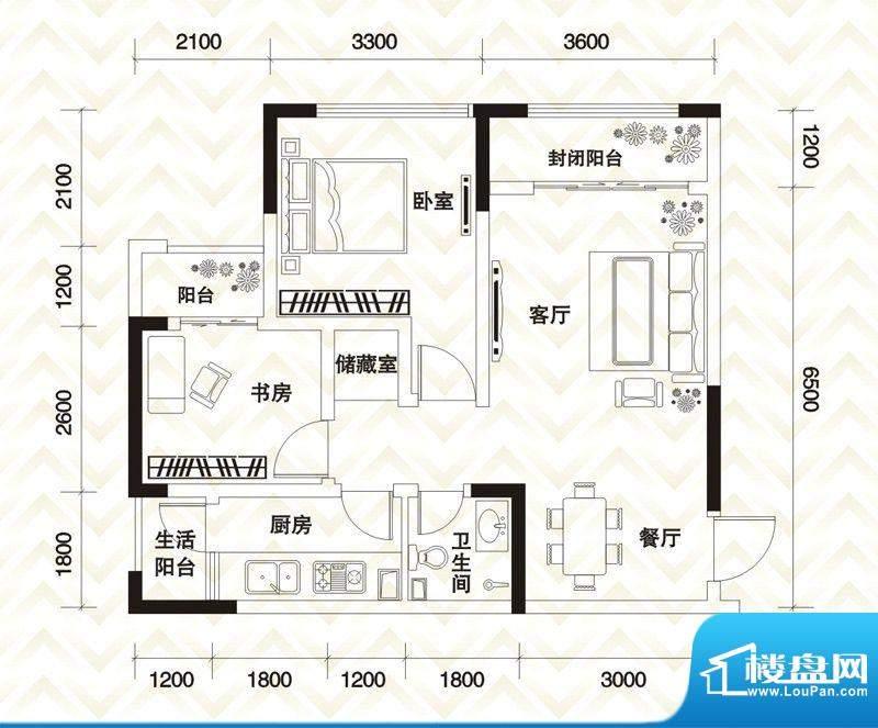 香江庭院户型图二期2号楼标准层面积:78.04平米