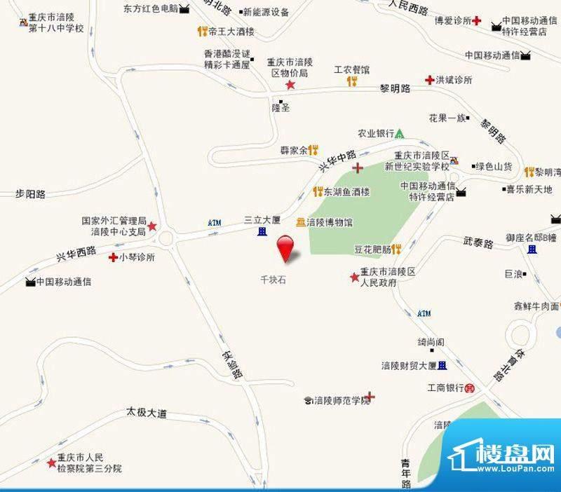 景圳雅苑地块交通图