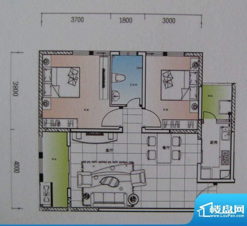 御锦江都户型图一期A3栋标准层面积:94.77平米