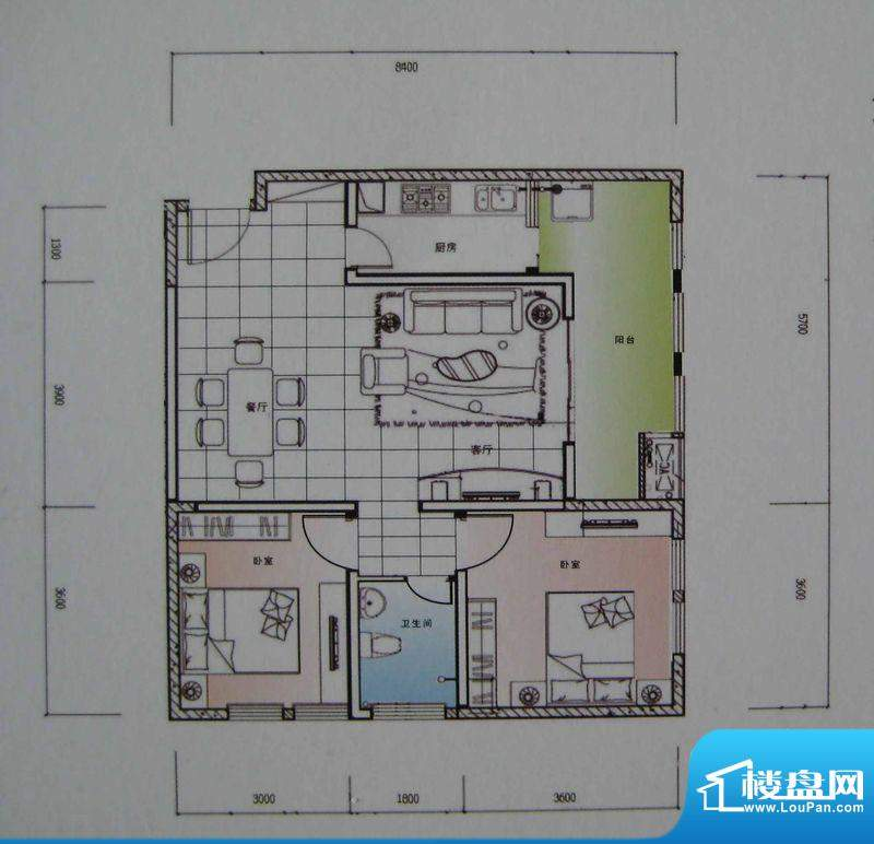 御锦江都户型图一期A3栋标准层面积:96.13平米