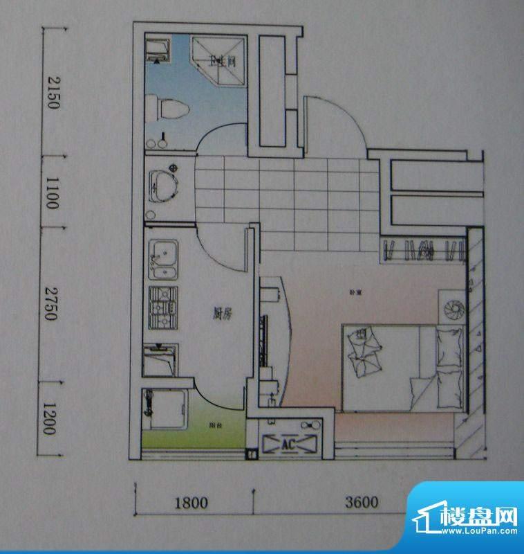 御锦江都户型图一期A1栋标准层面积:29.27平米
