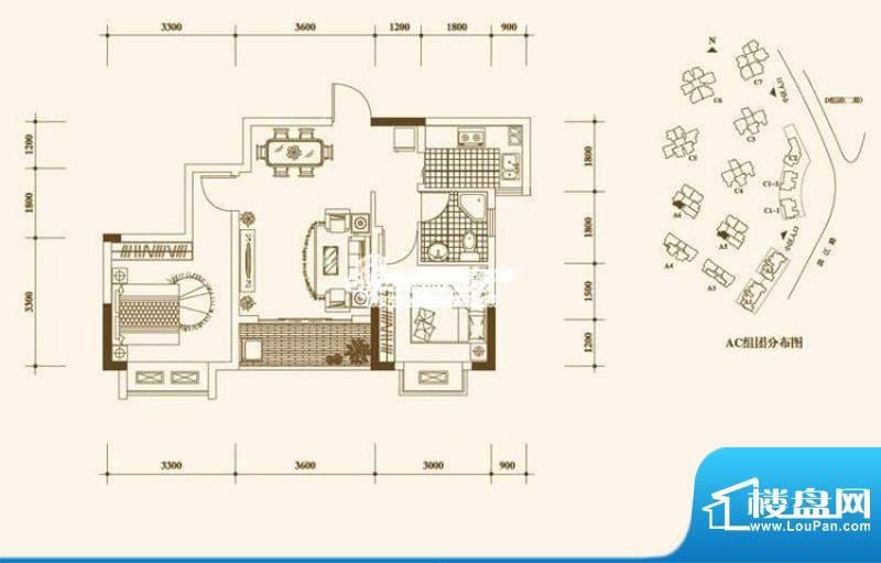 一期A5、A6栋标准层4号房户型
