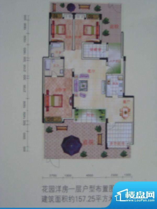 欧景新天地户型图一期花园洋房面积:157.25平米