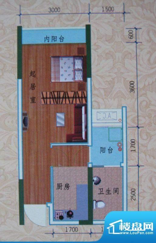 泽胜依山郦景户型图一期1号楼标面积:33.66平米