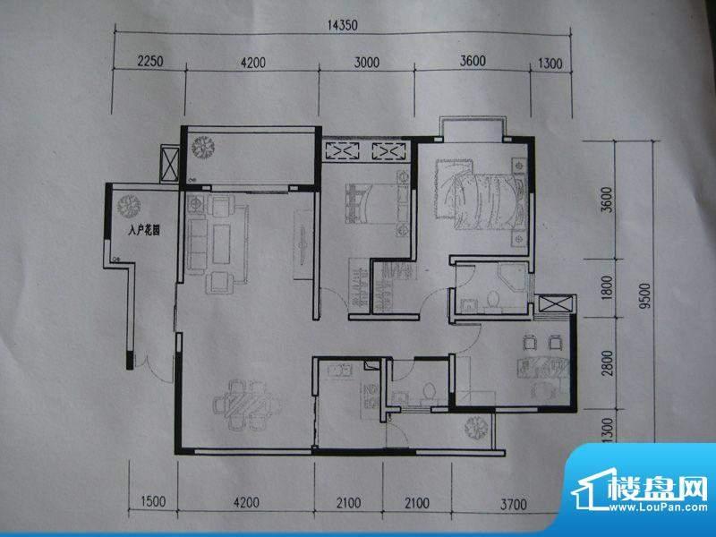 龙湾南湖MOCO户型图三期3、4号面积:120.22平米