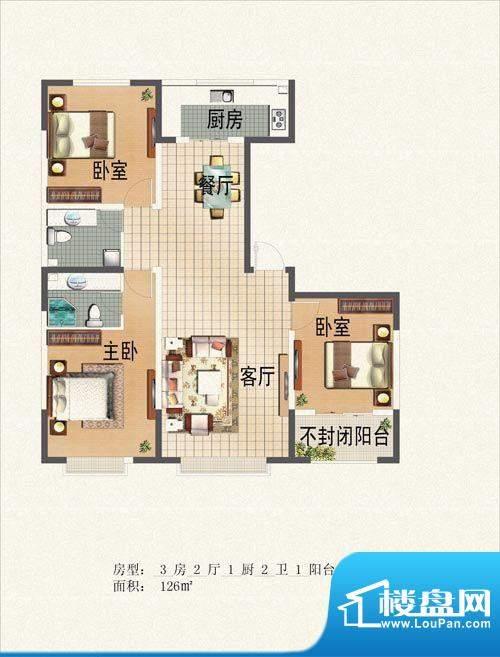 晟宝龙广场126平米 面积:26.00m平米