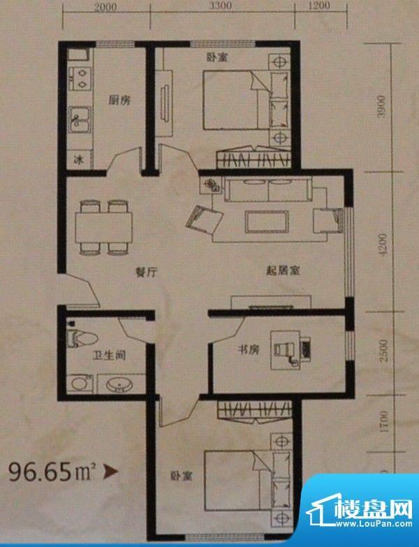 托斯卡纳96.65平方米面积:96.65m平米