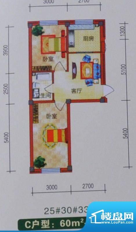 裕隆花园73平方米 2面积:73.00m平米