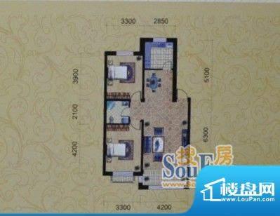 金城福邸94平方米 2面积:94.00m平米