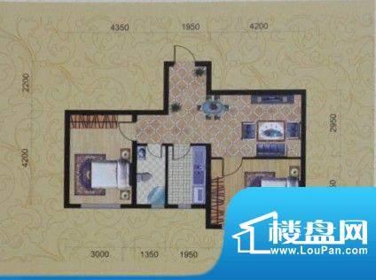 金城福邸71平方米 2面积:71.00m平米