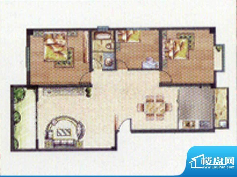合顺景苑B户型 3室2面积:115.00m平米
