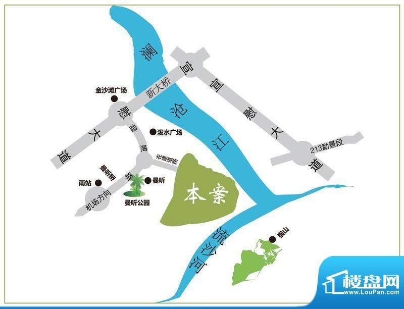 滨江果园避寒度假山庄交通图