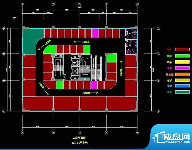 菲霖公馆二层商铺平面积:0.00m平米