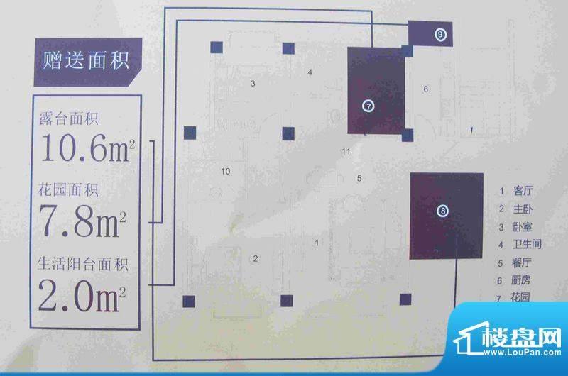 都市阳光金牌户型4 面积:108.60m平米