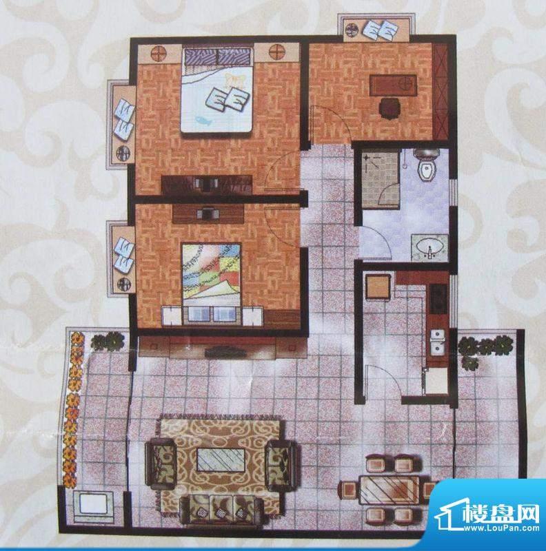 金象盛景A户型 3室2面积:98.80m平米