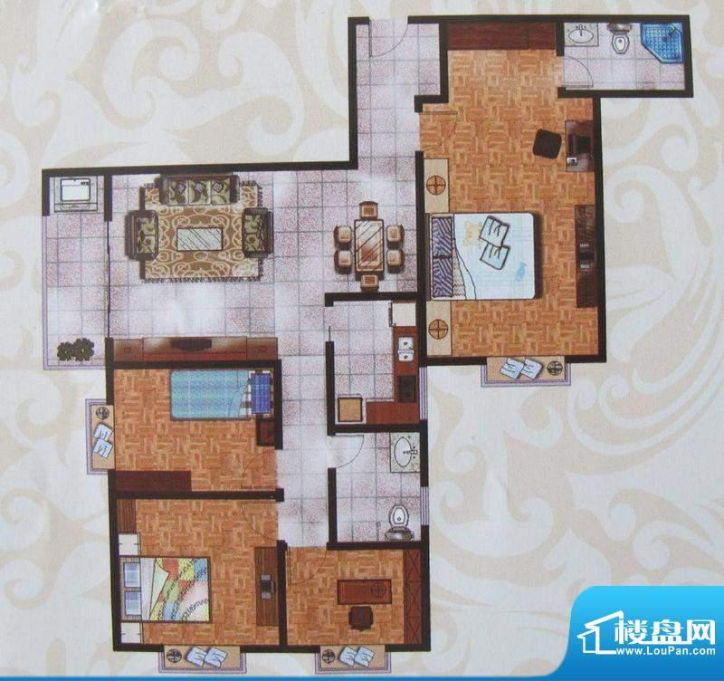 金象盛景C户型 4室2面积:142.22m平米