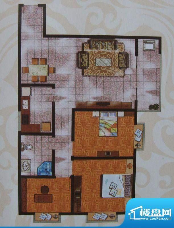 金象盛景H户型 3室2面积:99.93m平米