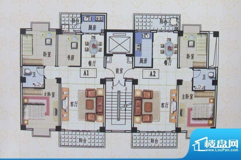 金色佳园A户型 3室2面积:95.50m平米