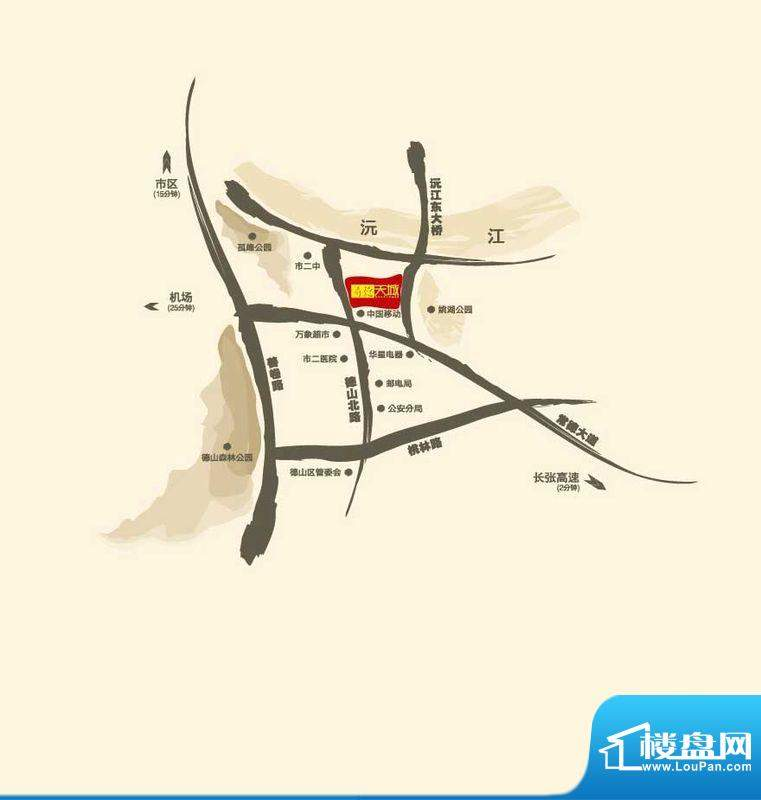尊德天城·贡苑交通图