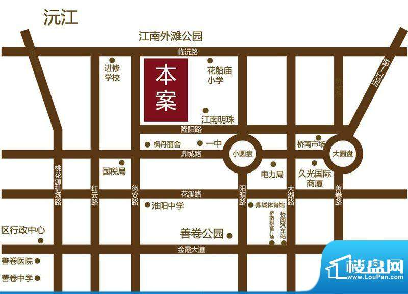 浙风名邸交通图