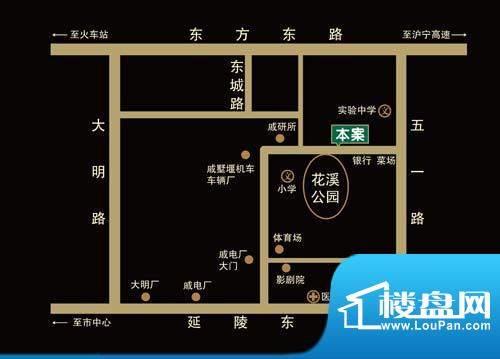 花溪兰庭交通图