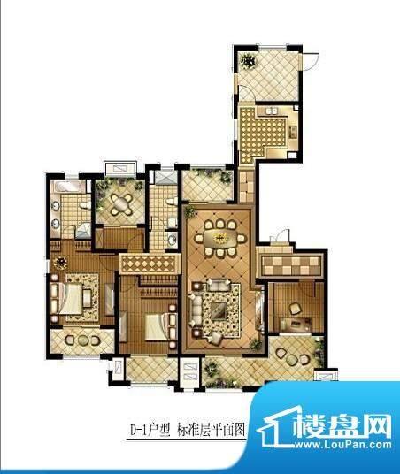 华润国际社区户型图一期户型 3面积:190.00平米