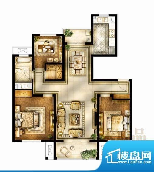 华润国际社区户型图三期户型 3面积:115.00平米