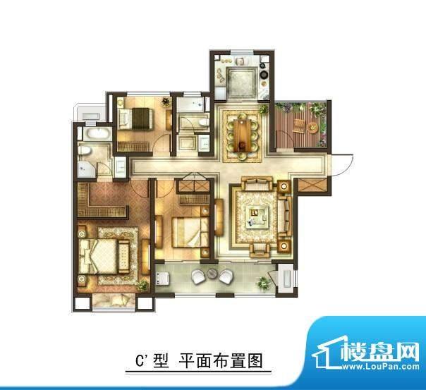 华润国际社区户型图二期户型 3面积:142.00平米