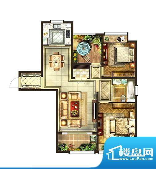 华润国际社区户型图二期户型 3面积:118.00平米