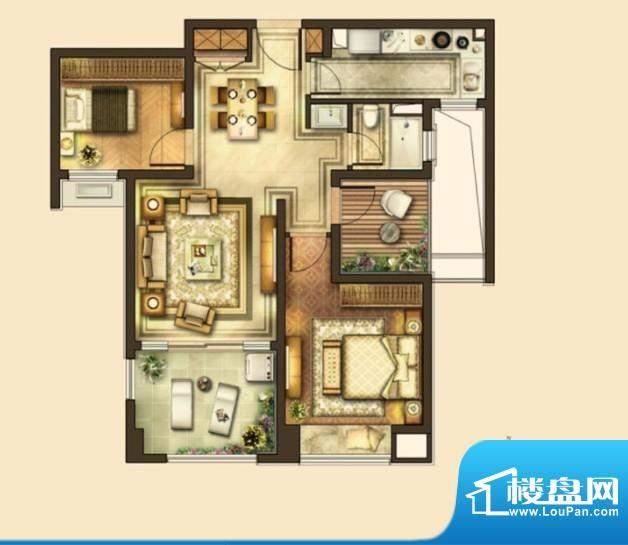 华润国际社区户型图二期户型 3面积:90.00平米