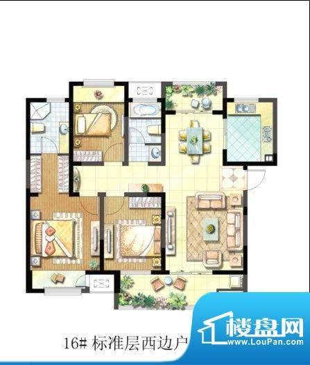 聚湖雅苑户型图17#C户型 3室2厅面积:127.07平米